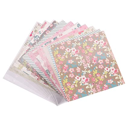 Facraft 8x8 Scrapbook Kit Refill Pages And Paper Protecters 10 Sheets