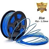DAZZLE LIGHT 3D Printer PLA Filament 1.75mm Dimensional Accuracy +/- 0.02 mm 2.2 LBS (1KG) Spool, Blue, 3D Printing
