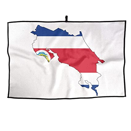 Amazon.com : Xint Costa Rica Flag Map Custom Sports Towel ... on la costa golf course map, golf in china map, golf in bermuda map, golf in spain map, golf in ireland map, golf in liberia costa rica, golf in jamaica map, golf in guanacaste costa rica, golf courses costa rica map, golf in scotland map,