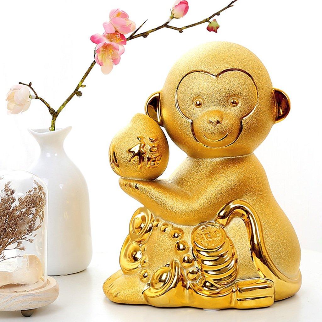 Piggy Bank Ceramic Decoration Monkey Cartoon Gift (Size : S) by XXDP (Image #7)