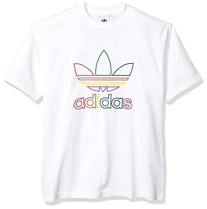 adidas Originals Men's Pride Tee, White, Medium
