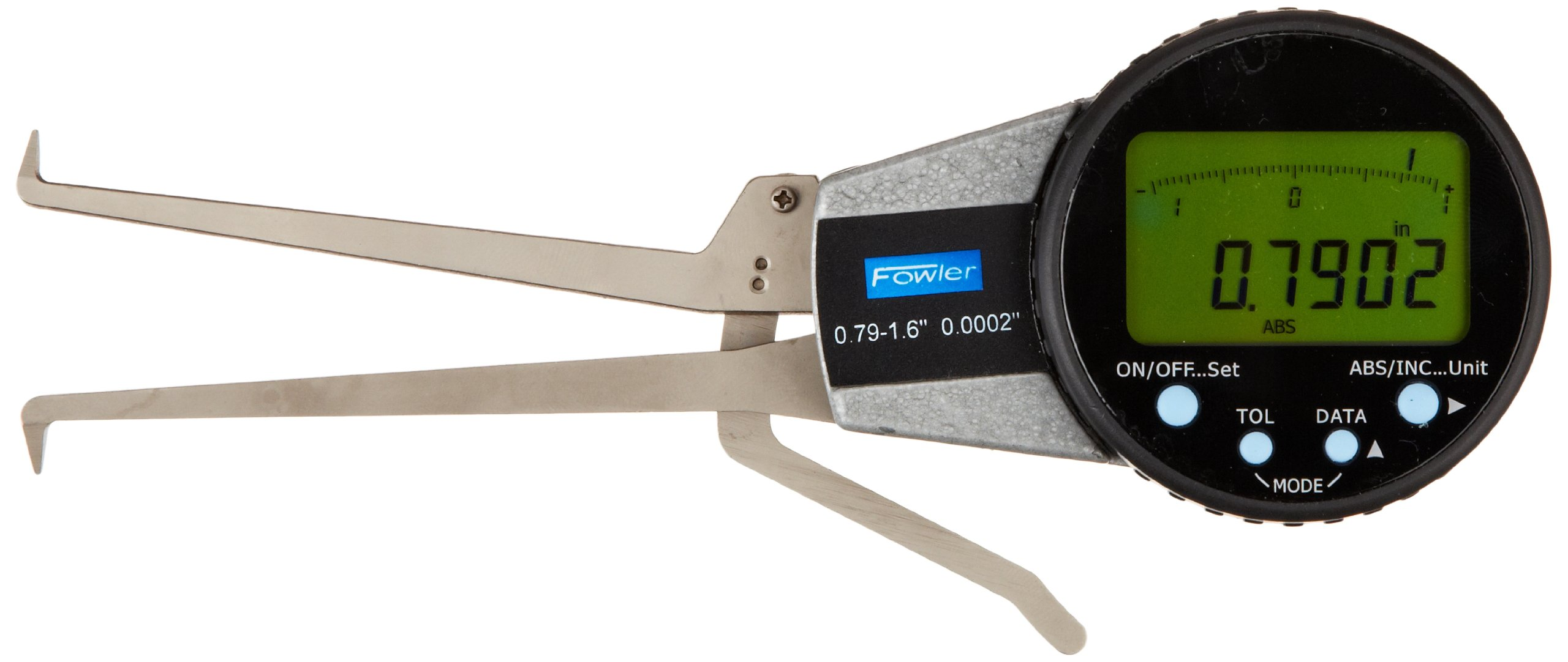 Fowler 54-554-624 Internal Electronic Caliper Gage, 0.790-1.6'' Measuring Range, 0.0005'' Resolution, 0.0008'' Accuracy