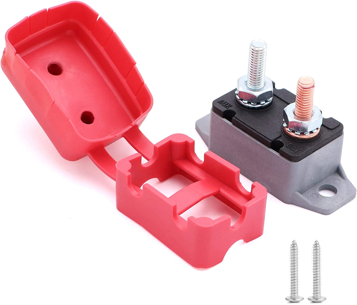 Auto Reset 12V 12V Circuit Breaker Car Automatic Fuse Metal Stud Bolt 20Amp