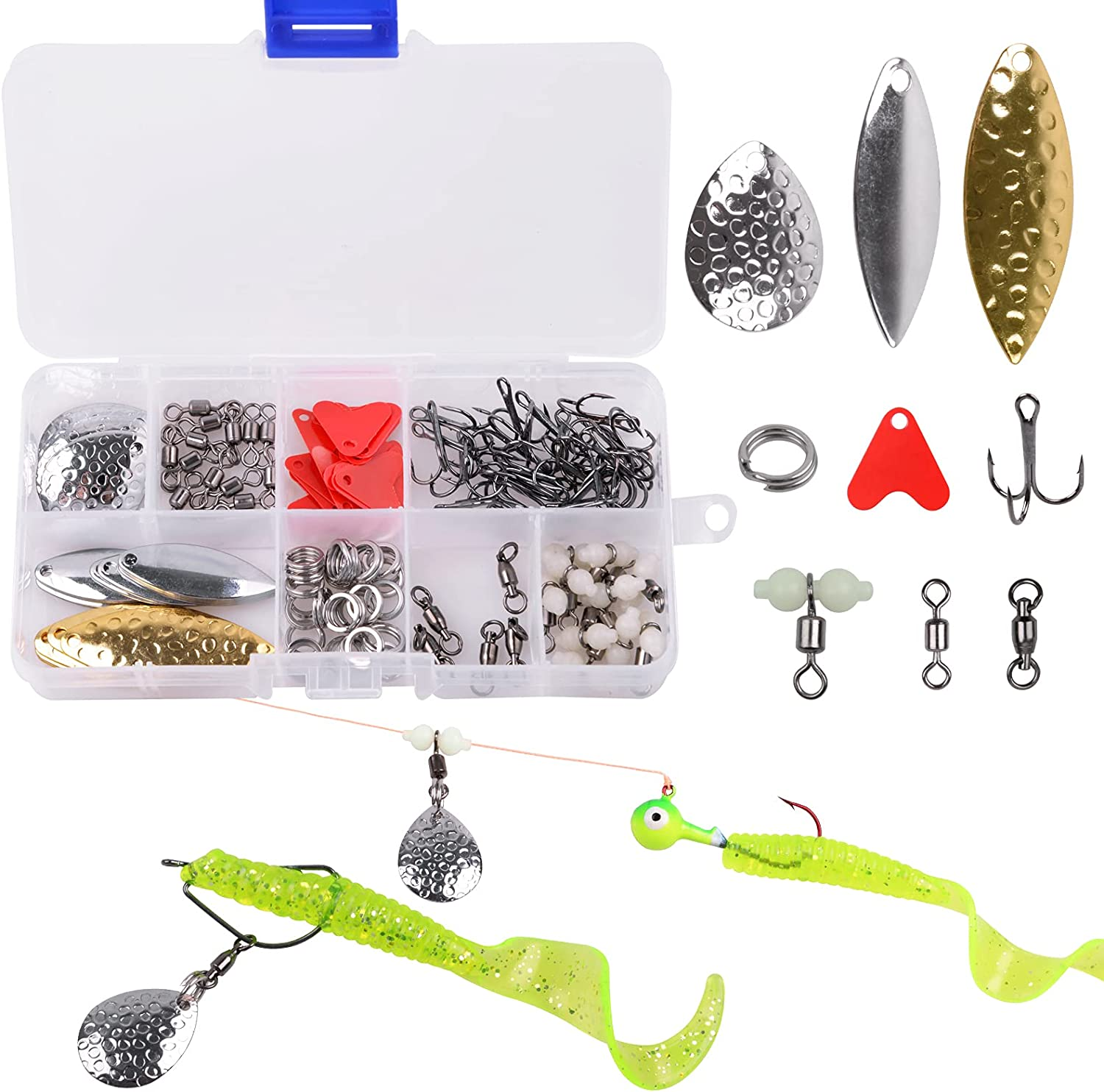 Details about  / Fishing Lures DIY Kit Lure Making Kit Fishing Spoon Rig 176pcs Lures DIY Kit