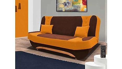 Divano Arancione E Marrone : Justhome eva ii sofà divano singolo divano letto microfibra axlxp