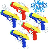 TOY Life Water Guns for Kids - 5 Pack Water Pistols - Water Shooter Toy - Kids Outdoor Toys Boys, Girls - Swimming Pool Toy - Beach Toy - Water Gun Pool Party Summer Toys Toddlers Kids (Squirt Guns)