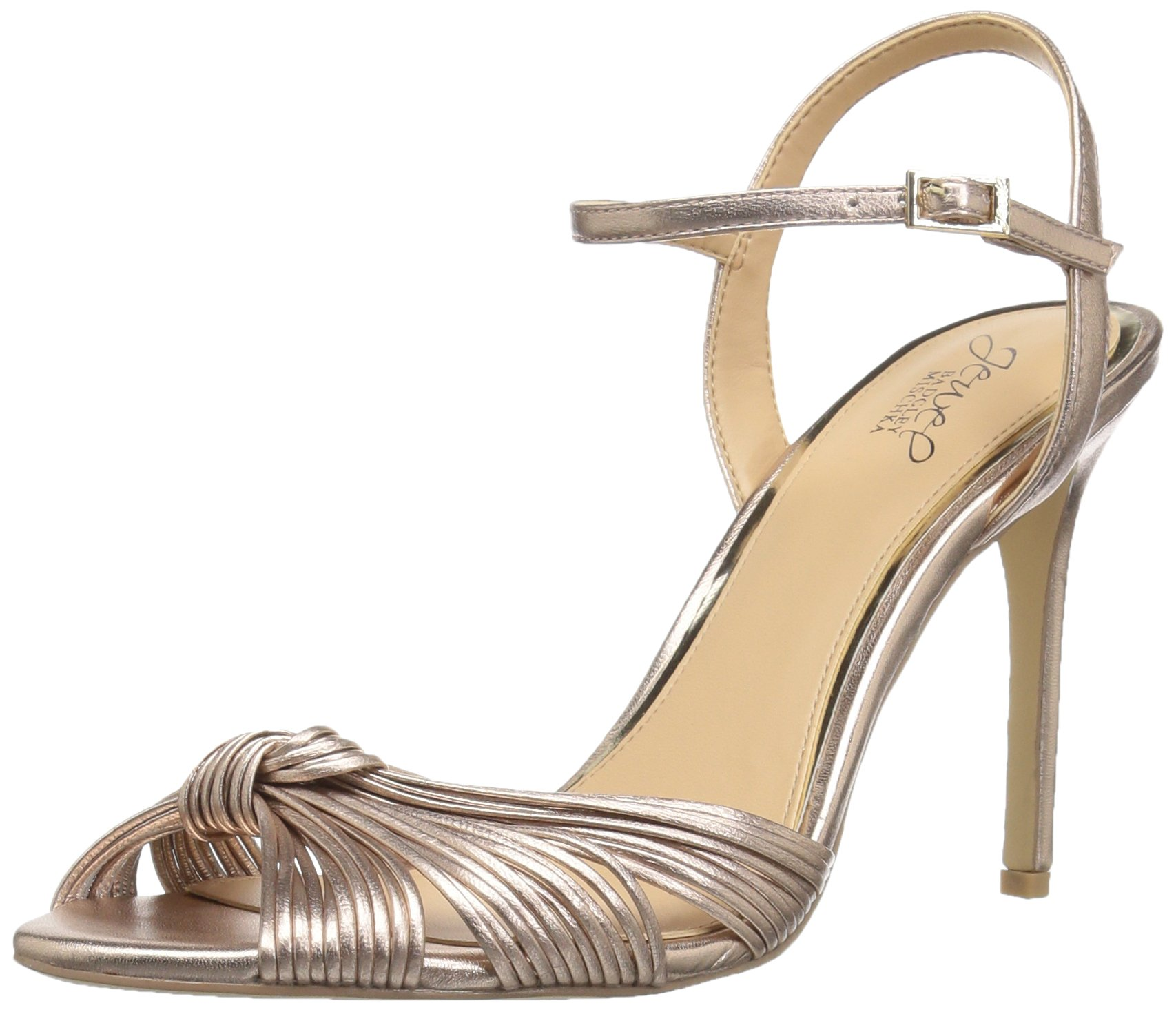 Jewel Badgley Mischka Women's Lady Heeled Sandal, Rose Gold, 10 Medium US