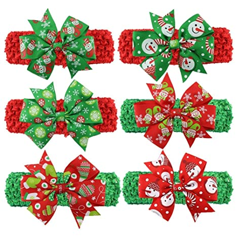 Generic 3   1PC Christmas Baby Girl Ribbon Bows Headbands Children Infant  Hair Headwear Adjustable Hair Bands Kids Hair Accessories Gift 5  Amazon.in   Home ... 15c442ea0fcb