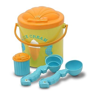 Melissa & Doug Speck Seahorse Sand Ice Cream Set: Melissa & Doug: Toys & Games
