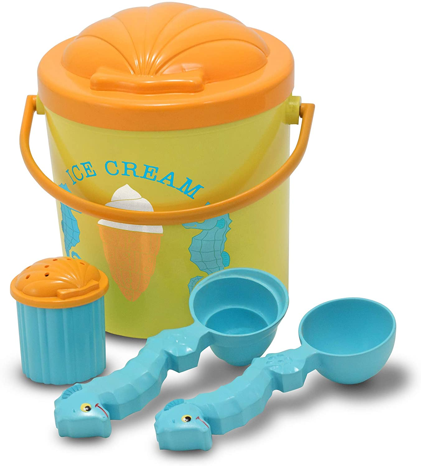 Melissa & Doug Speck Seahorse Sand Ice Cream Set,White