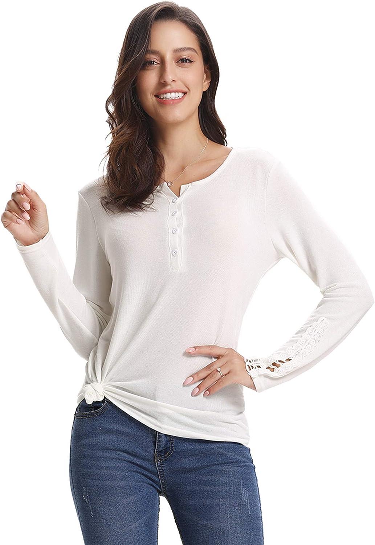 Abollria Maglia a Manica Lunga Maglietta Donna Basic Capo Casual per Primavera Autunno Inverno