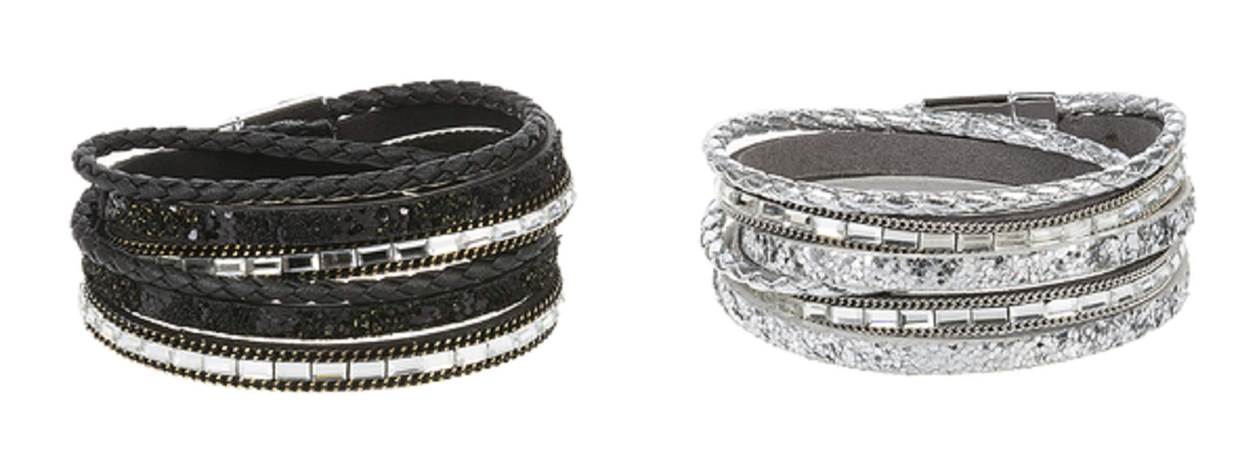 Ganz Magnetic Wrap Bracelets, Set of 2 Assortment (EX28051)