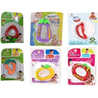 Hanumex® Water Filled Baby Toy Teethers Multi Design Multi Color Non Toxic Durable Contents Safe, Specially Designed to Ease Teething discomfort of Soft Gums for Baby's Aged 4 to 6 Months (Single)