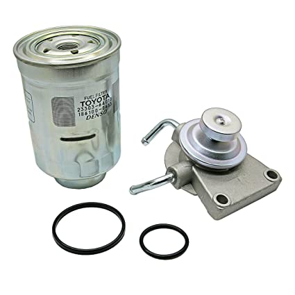 amazon com diesel fuel filter primer pump \u0026 filter for toyota hiluxamazon com diesel fuel filter primer pump \u0026 filter for toyota hilux pickup ln51 ln56 ln65 ln106 ln107 ln130 1984 97 2 4l 2 8l 2l 3l automotive