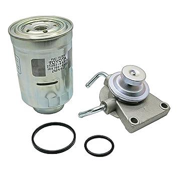 Amazon com: Diesel Fuel Filter Primer Pump & Filter For