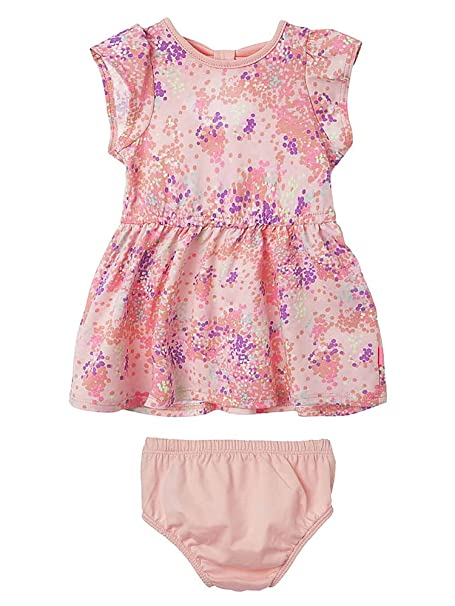 OFFCORSS Baby Girl Newborn Cute Cotton Floral Printed Dress with Panty Summer Clothing Set Kit Vestidos