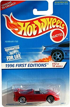 Hot Wheels 1996 12 Ferrari F50 Lace China Mint 377 1 64 Scale Collectible Die Cast Car Amazon De Spielzeug