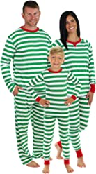 Sleepyheads Green Stripe Family Matching Pajama Set