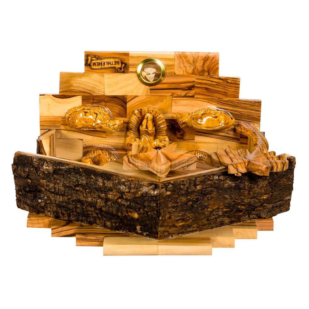 Kurt Adler Double Extra Large Olive Wood Nativity Music Box Home Accessories by Kurt Adler (Image #6)