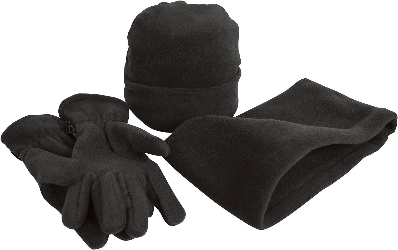 Gloves /& Neckwarmer Set Result Unisex Active Fleece Anti-Pill Winter Hat