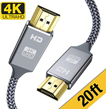 4K @ 60Hz 28AWG Braided Cord High Speed 18Gbps  3ft 6ft 10ft 25ft Lot HDMI 2.0