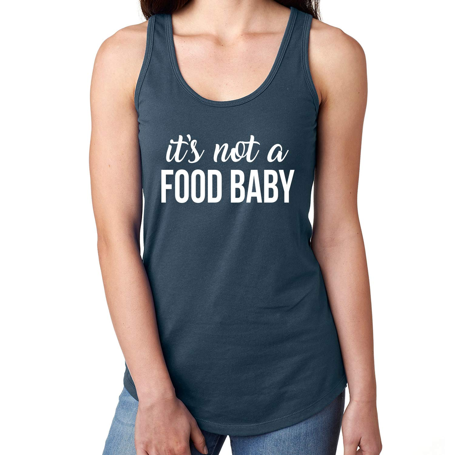 e0eefb960fdf It's Not A Food Baby Racerback Tank at Amazon Women's Clothing store:
