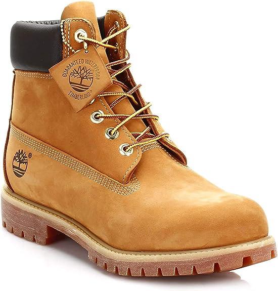 Timberland 6-Inch Premium Boot, Botas para Hombre, Amarillo (Wheat Nubuck), 52 EU