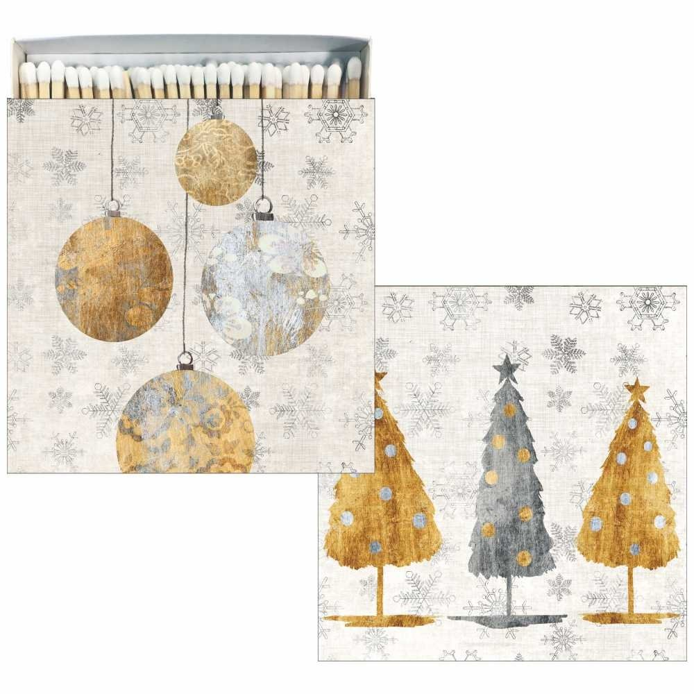 Paperproducts Design 27167-60 Matches in Square Gift Box with Festive Holiday