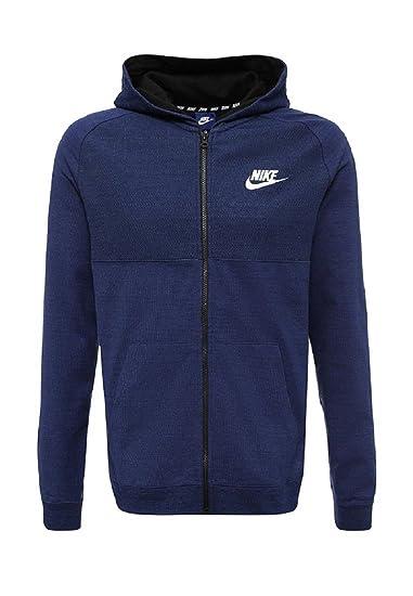 aad209f58e1e NIKE Mens Sportswear Advance 15 Full Zip Hoodie 883025-429 S - Binary  Blue Heather