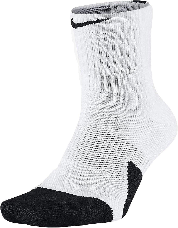 Nike SX5594-013: 1.5 Crew Basketball Mens Black White White Socks