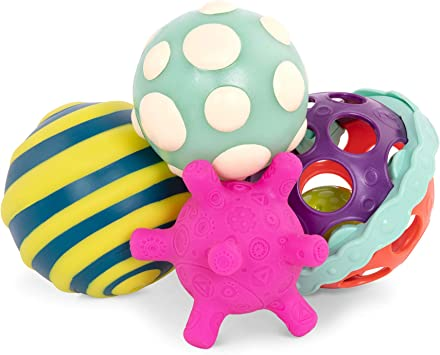 B. Toys – Ball-a-balloos – Set de Pelotas texturizadas – Set de 4 ...