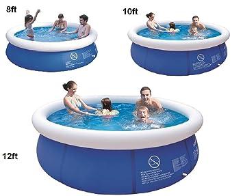 Aufblasbarer Pool für den Garten, runder Familienpool für den ...