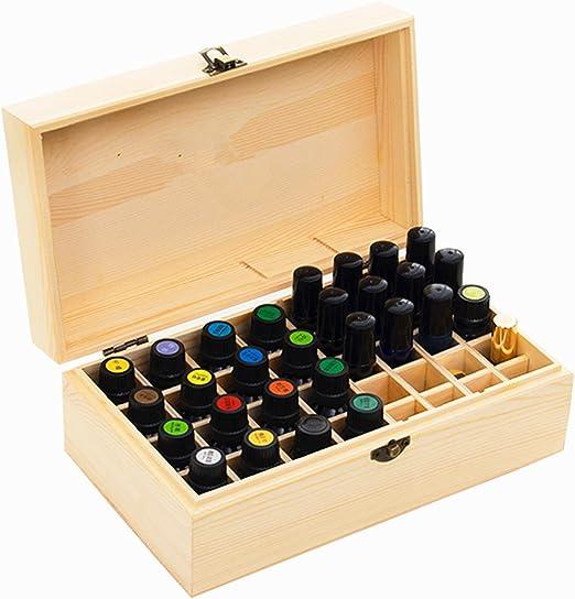 CHSEEO Caja de Aceites Esenciales para 36 Botellas Caja de Almacenamiento de Aceite Contenedor Estuche Organizadores para Cuentagotas, Aceite Esencial, CosméTica #2 ...