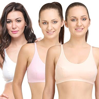 BODYCARE Pack of 3 Sports Bra in Orange-Pink-White Color - E1608PCPIW   Amazon.in  Clothing   Accessories bac214e6f