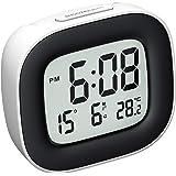 Mpow Reloj Despertador Digital con Luz de Noche, Reloj de Viaje con Pilas, Zumbador Alarma, Fecha, Temperatura, Función…