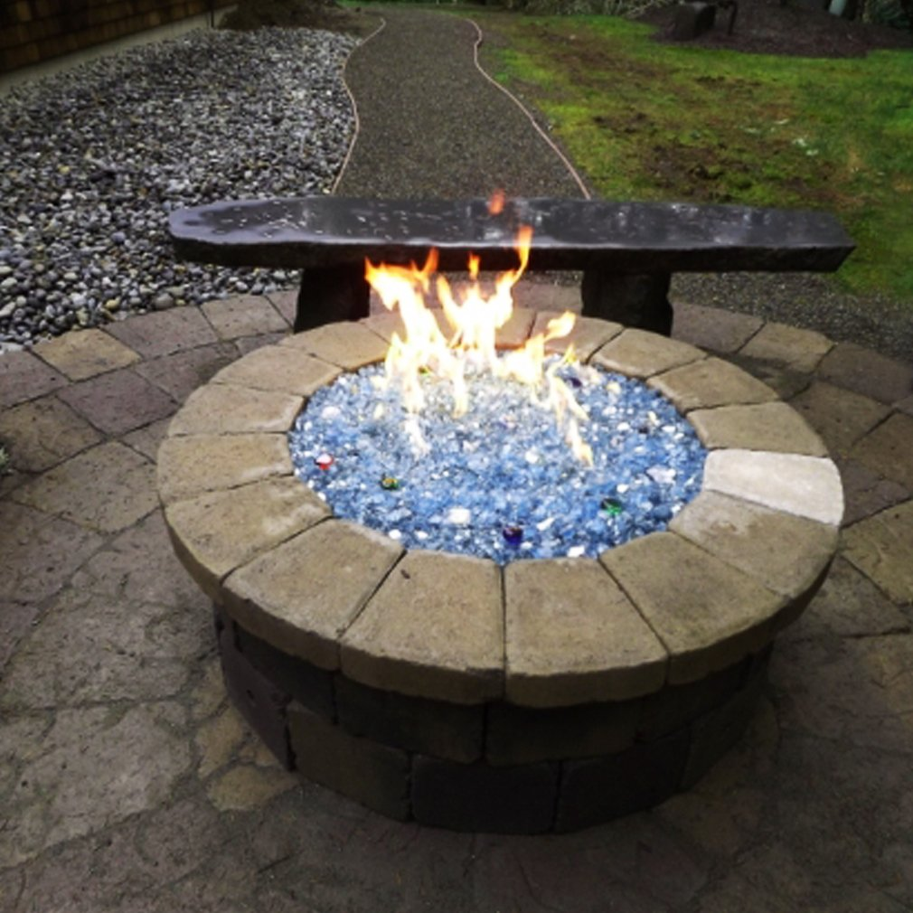 HBSB30-NG 30x8-Inch Natural Gas HPC Rectangle Stainless Steel Fire Pit H-Burner Hearth Products Controls
