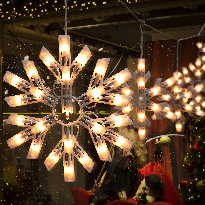 Details about  /Christmas Snowman LED String Fairy Lights Santa Snowflake Lamp Xmas Decoration