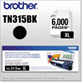 Brother TN315BK High Yield Toner Cartridge - Black - Laser - 3500 Page - 1 Each
