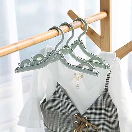 4 Kleiderb/ügel mit 12 W/äscheklammern YianBestja 4 St/ück Verstellbar und Faltbar Kleiderb/ügel mit W/äscheklammern Reiseb/ügel f/ür Socken Unterw/äsche Hose usw.