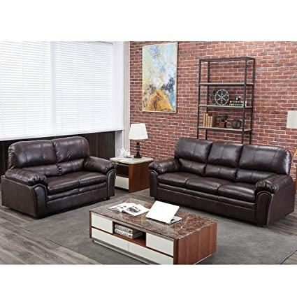 Amazon.com: Sofa Sectional Sofa Sofa Set PU Leather Loveseat Sofa ...