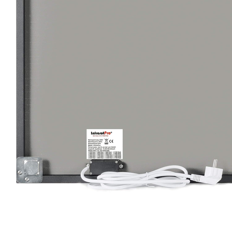 Calefacción decorativa por infrarrojos de InfrarotPro®, calefacción de 500 W, fabricado en Alemania, calefactor de infrarrojos eléctrico, ...