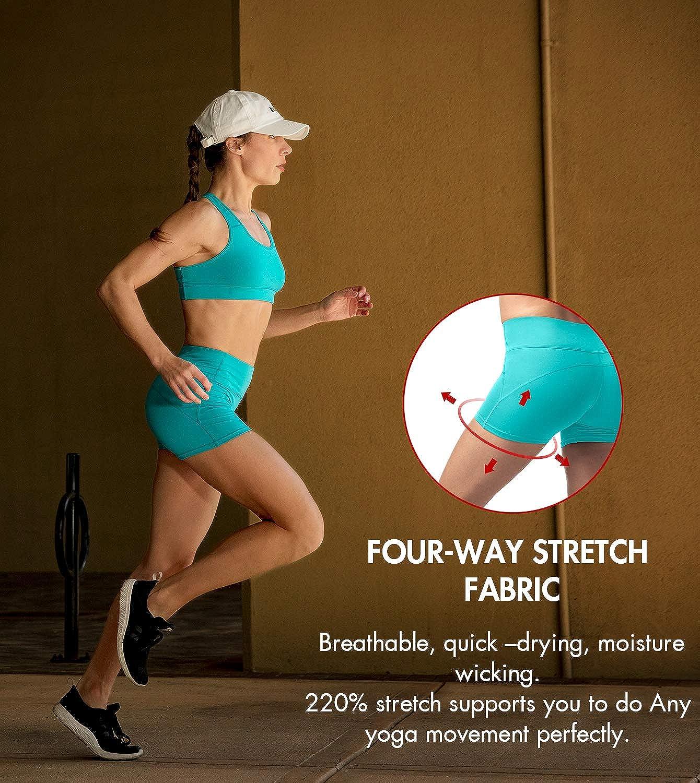 LAPASA Pantaloncini Sportivi Donna Fitness Shorts Sportivi per Allenamento Palestra Running L09