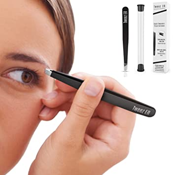 Amazon.com: Tweez ER - Pinzas para cejas de acero inoxidable ...