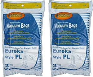 Good Choice for 6 Eureka Electrolux Style PL Upright Vacuum Bags, Bagged Uprights, Maxima Vac.