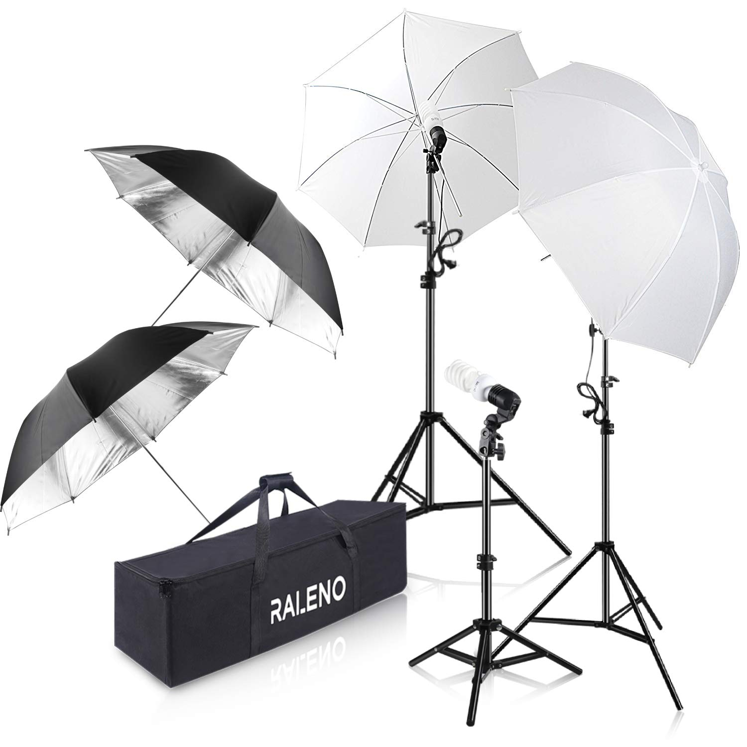 Photography Umbrella Lighting Kit, 600W 5500K Day Light Continuous Studio Lights Equipment for Portrait Video Studio Shooting by RALENO by RaLeno (Image #1)