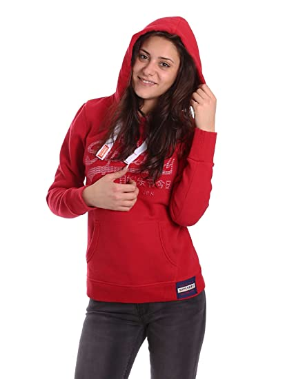 Superdry Vintage Logo Emboss Sweat Cap Femme Rouge Taille XS
