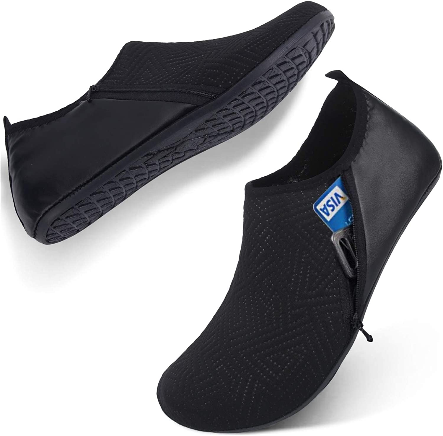 Mens Water Shoes Swim Shoes Quick-Dry Beach Barefoot Surf Yoga Boat Sneakers