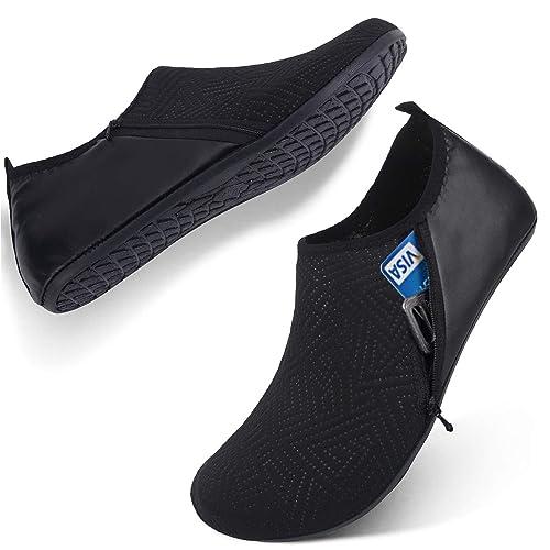 e3f8f66f1b96e FEETCITY Mens Water Shoes Swim Shoes Women Quick-Dry Barefoot Beach Surf  Boat Yoga Sneakers