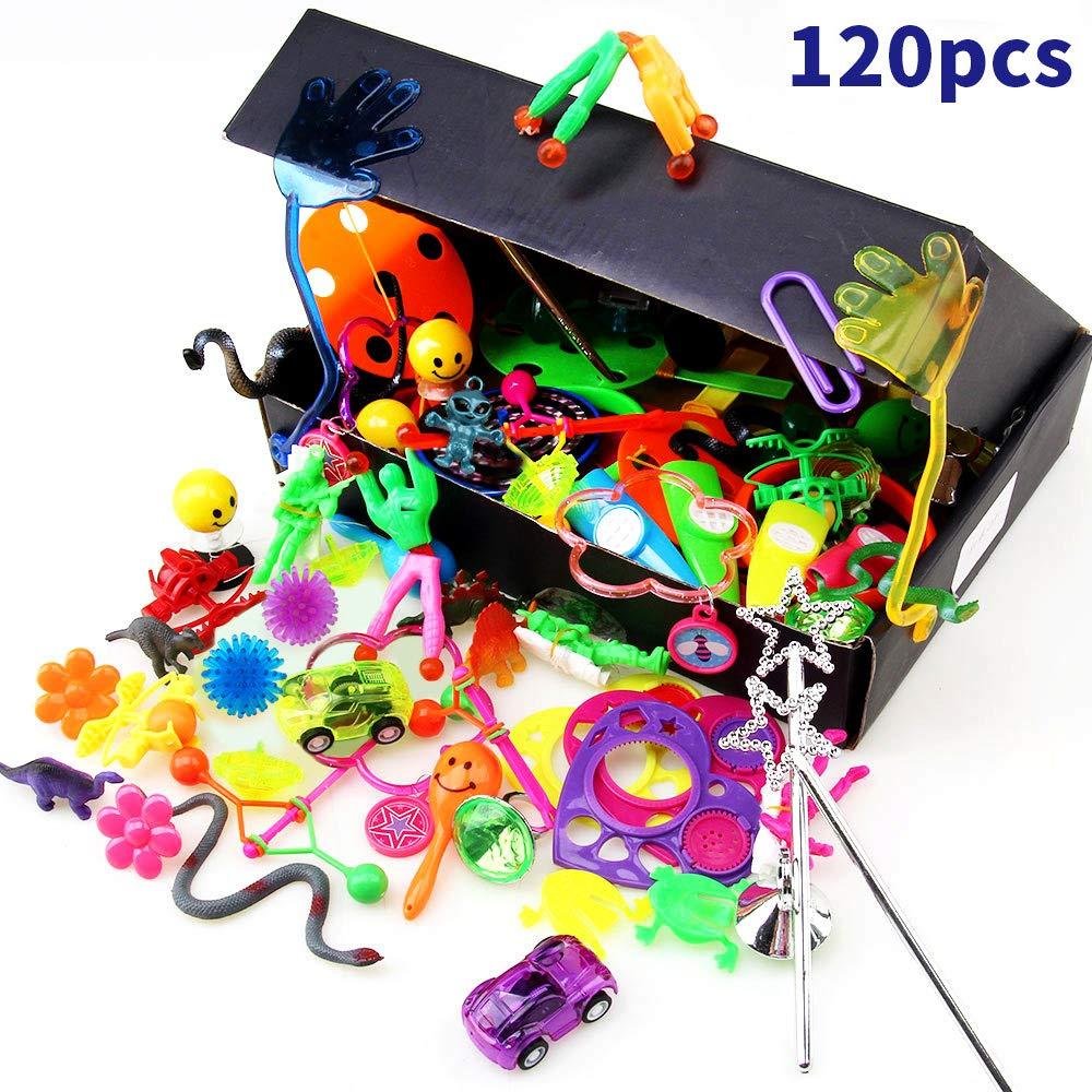 Amy&Benton Surtido de 120 juguetes para llenar piñatas y juguetes para llenar bolsas de fiesta para fiestas de cumpleaños infantiles o para la escuela