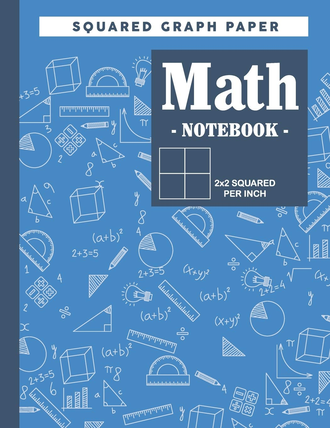 Graph Paper Math Squared Notebook: Lined Graph Paper Math Large ...